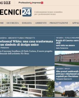 Il Sole 24 Ore: Horizontal White: A house transformed in a symbol of unique design